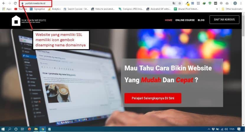 Website dengan SSL