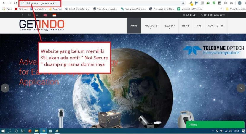 Website tanpa SSL