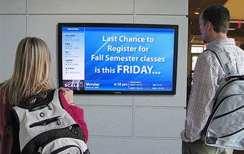 digital signage for education