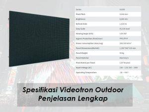Spesifikasi Videotron Outdoor P10 | Sekaligus Penjelasan Lengkap